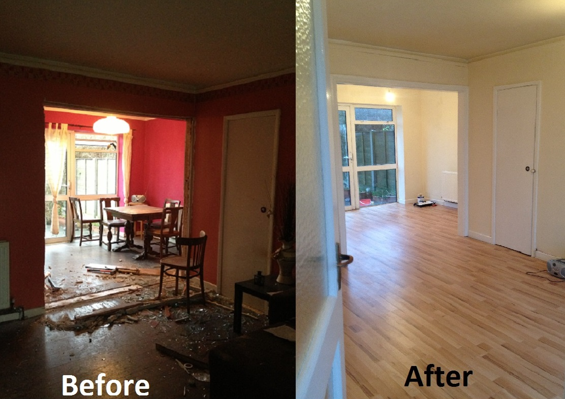View pictures and photos for kcs renovations builder in - Living room renovation before and after ...