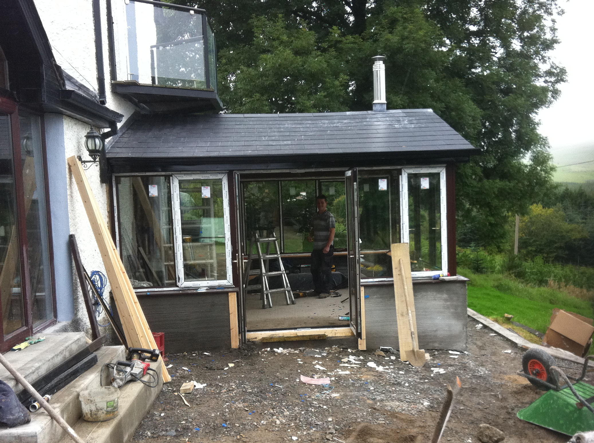 Sunroom Being Built
