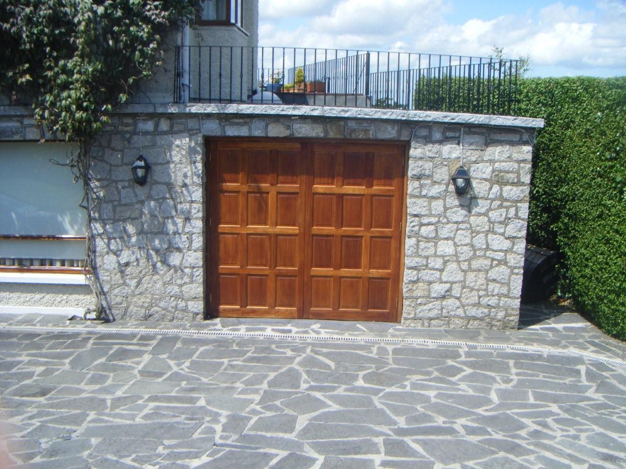 Teak doors to garage conversion in Dalkey.