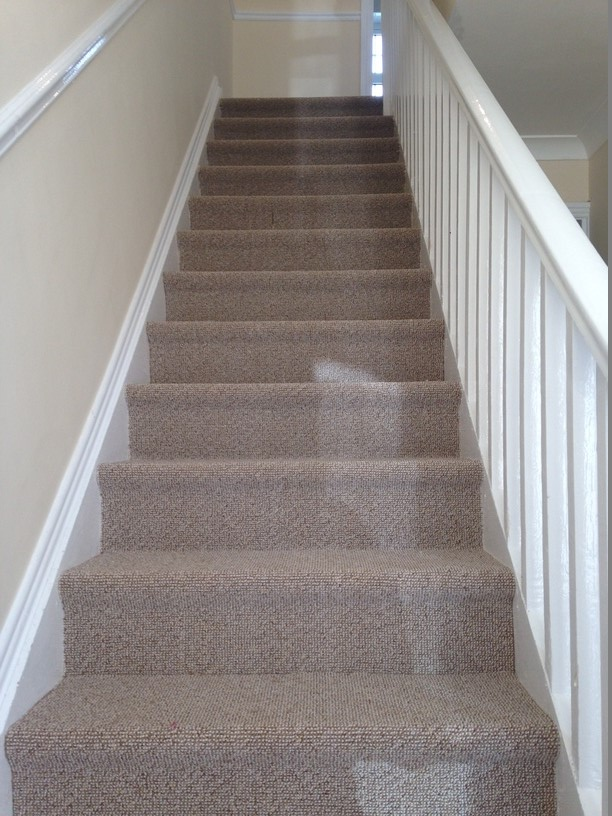 High Quality Felt Back Carpet Fitted To Stairs And Landing Phone:0874455739