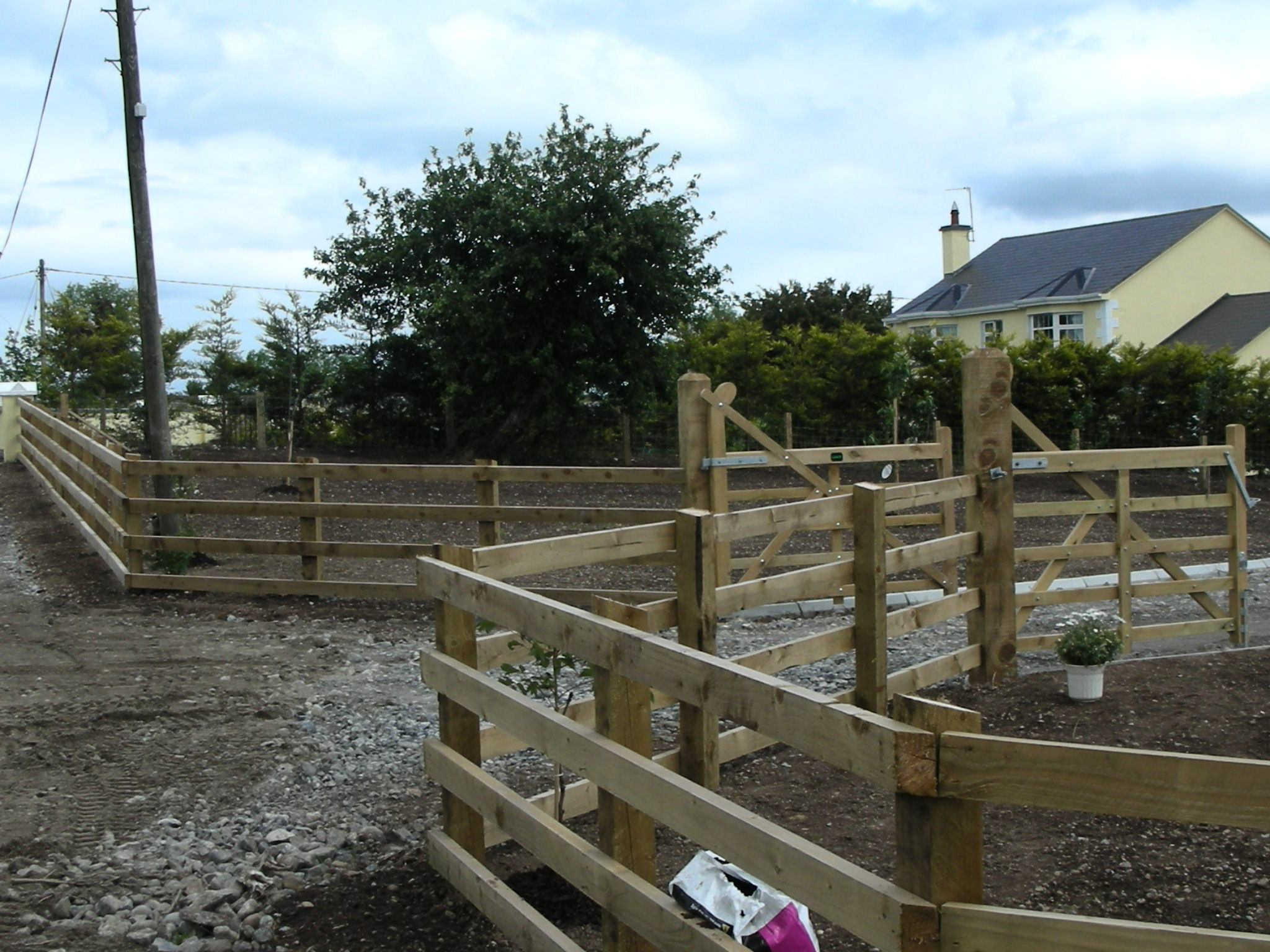 Post & Rail Fencing and gates ----