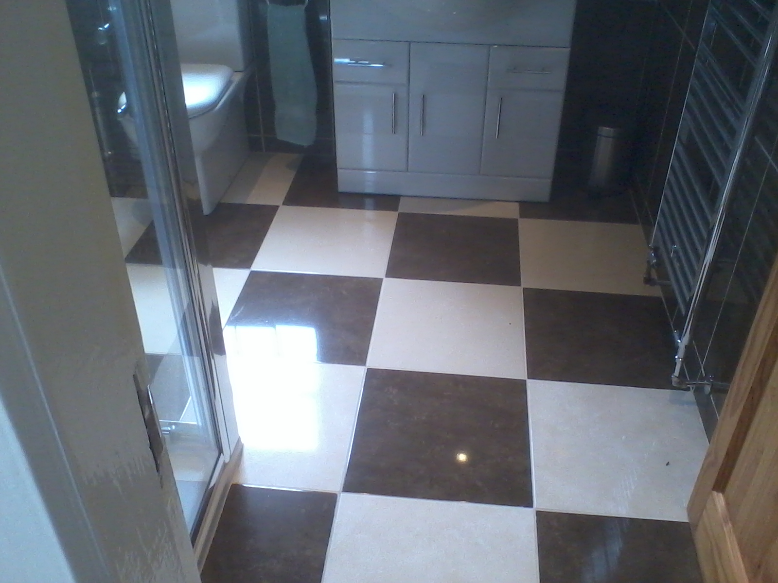 checkered floor tiles