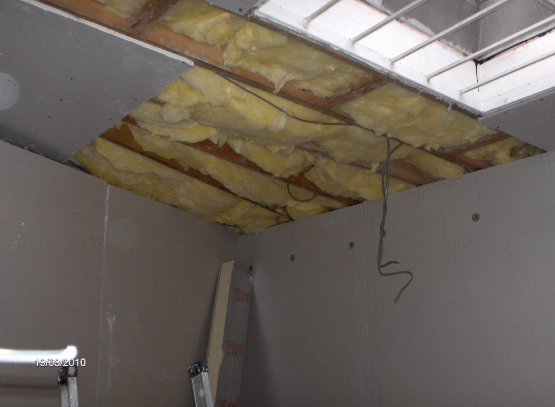 ceilings insulated with 150mm fibre insulation