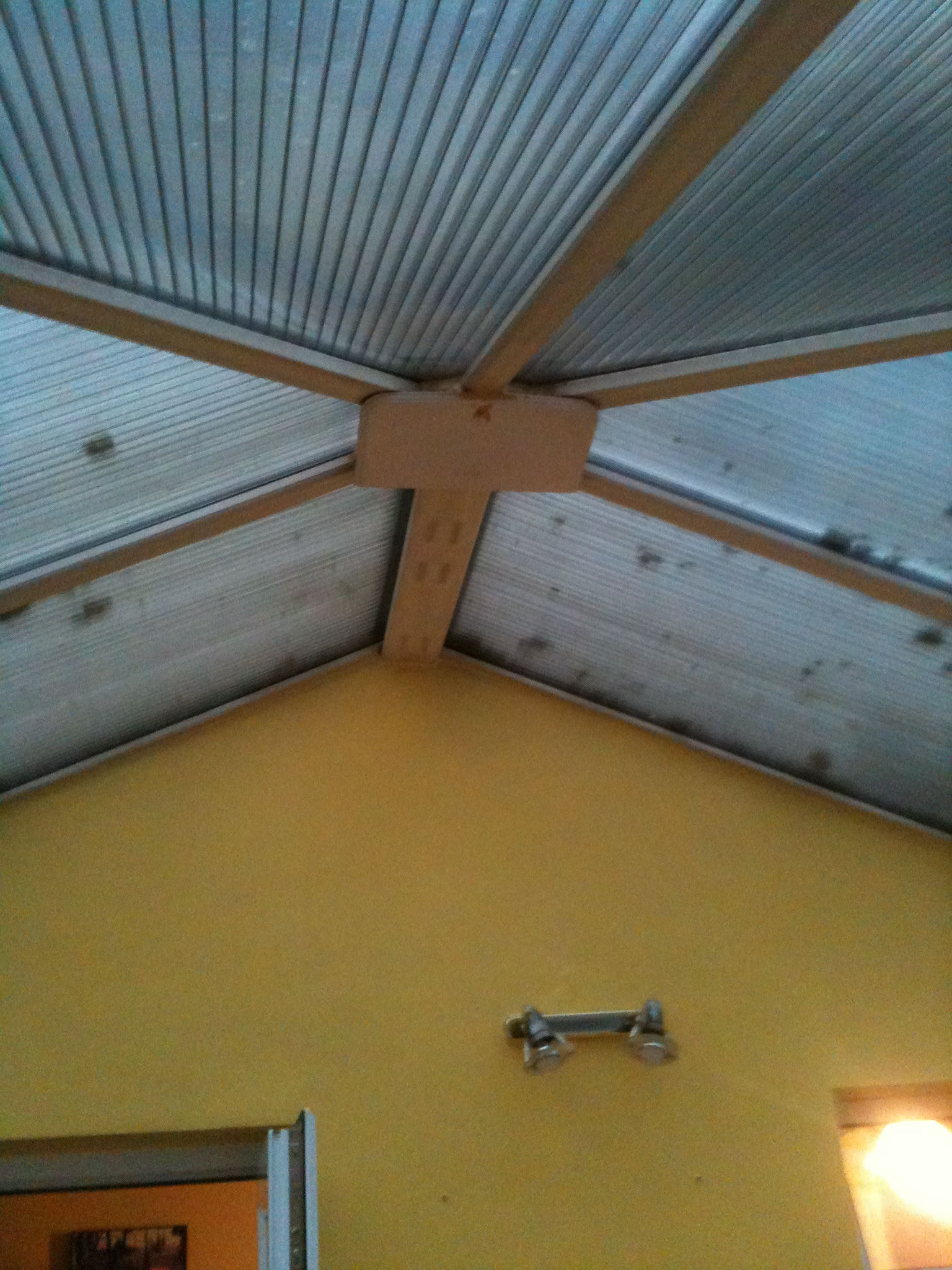 old leaking conservatory roof before being stripped