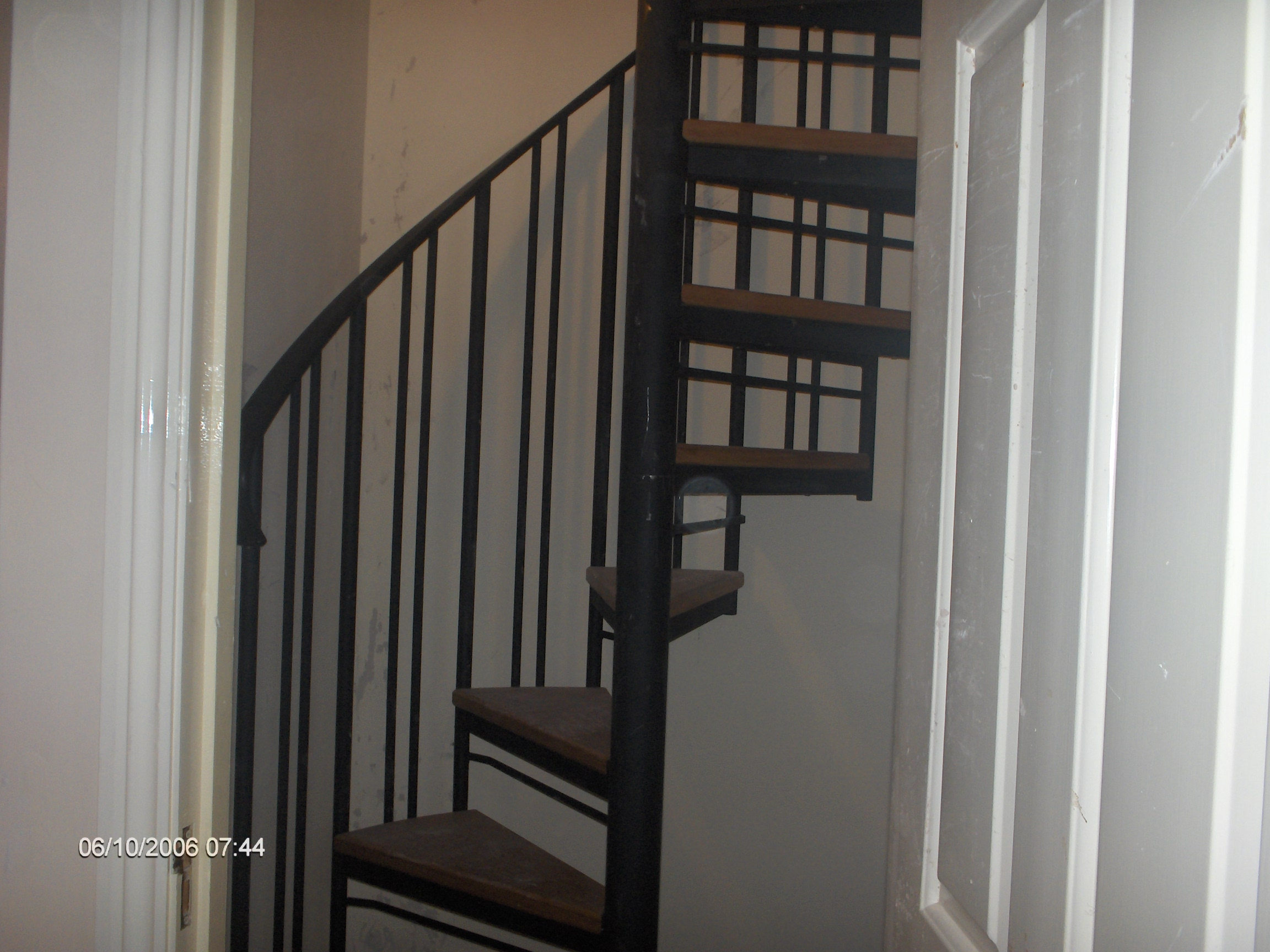 spiral stairs . steel structure and oak steps, made to measure.ideal for tight spaces. access to attic/loft