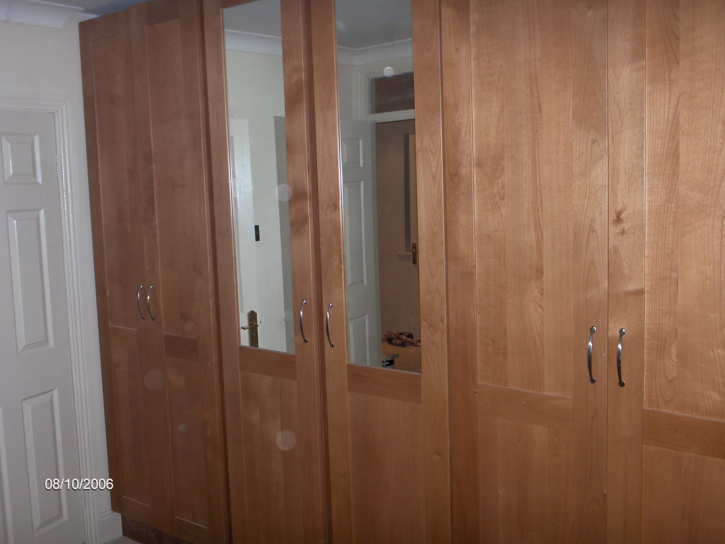 Built in wardrobes, made to measure, choice of colours and designs available,
