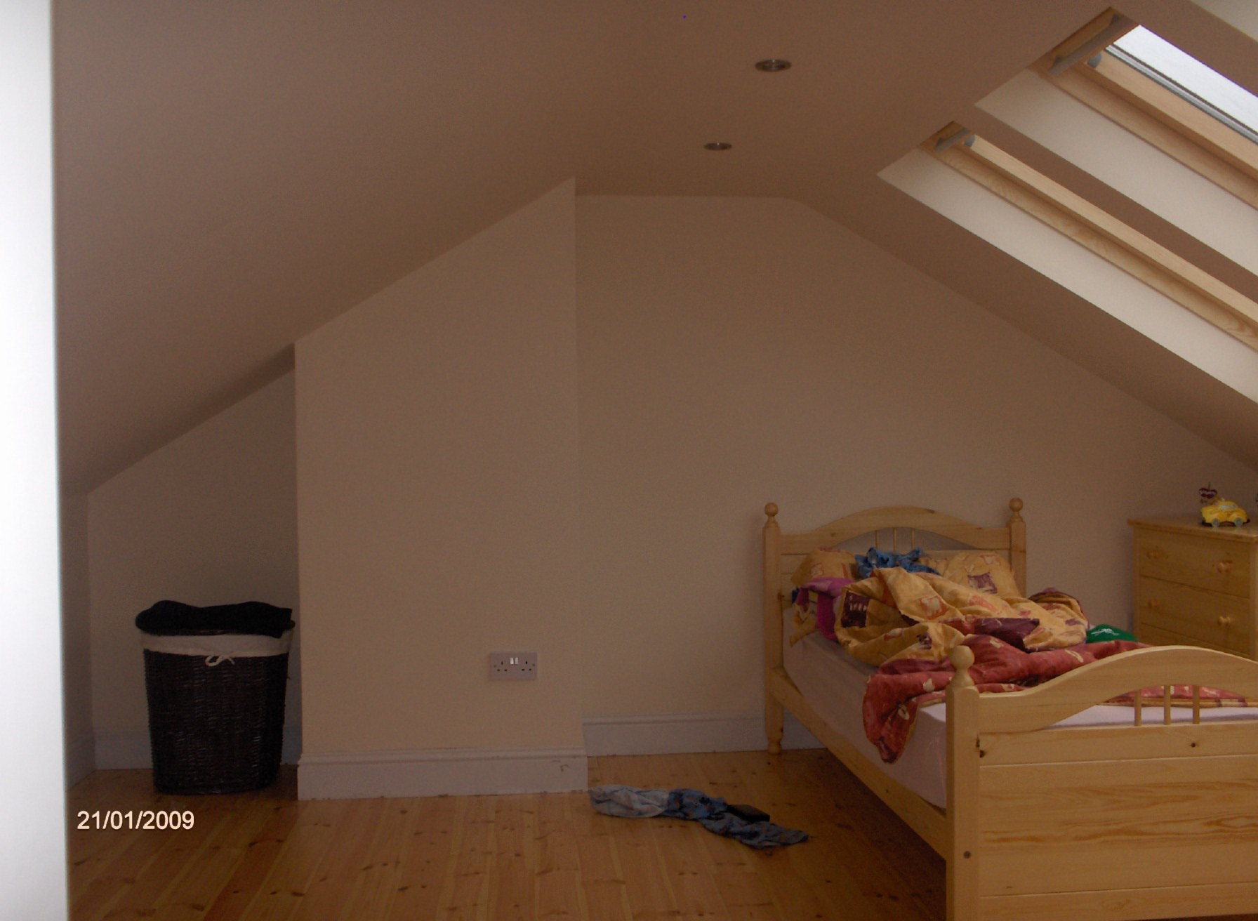 Attic conversion, 3 X velux roof lights , and storage under,