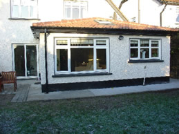 Single Storey Extension, Tiled roof, velux window,