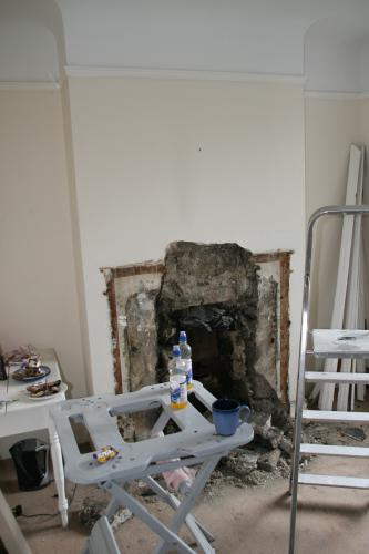removal of fire place