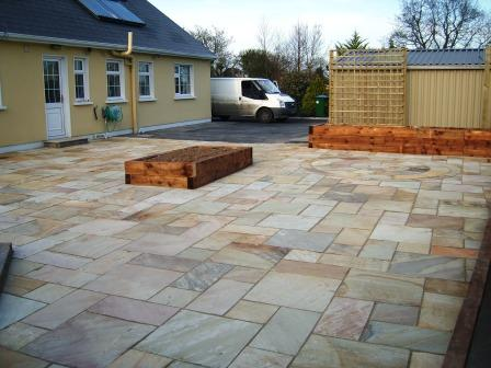 PATIO AREA: TINTED MINT NATURAL STONE